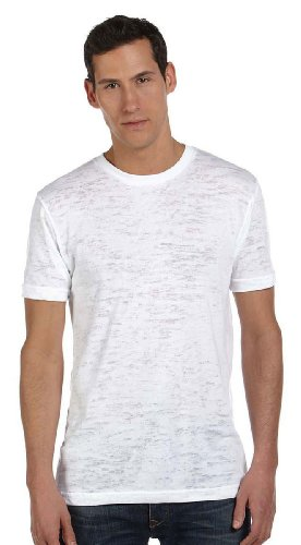 (Bella Canvas Men's Burnout Short-Sleeve T-Shirt, XL, White)