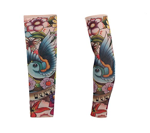 Zqxpp z143 tattoo arm sleeve cover cycling sun protective for Tattoo sleeves amazon
