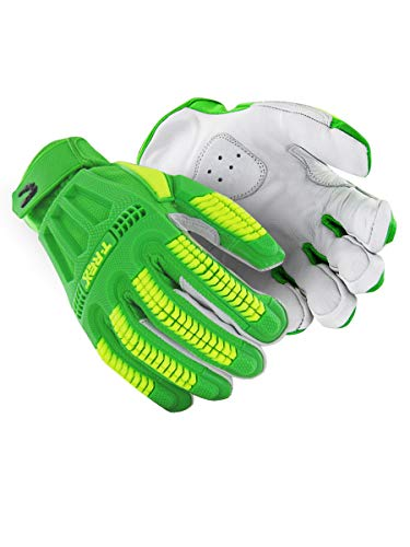 MAGID TRX7439 Windstorm Series Impact Gloves | ANSI A6 Cut Resistant Hi-Viz Safety Work Gloves with Cool Mesh Venting, Green/Yellow, Size 9/L (1 Pair)