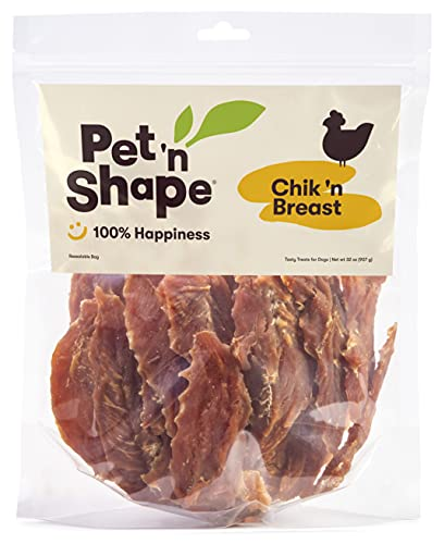 Pet 'n Shape Chik'n Breast Jerky Treats – Natural Chicken Dog Treats, 2 Pound