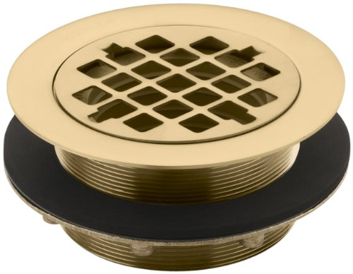 Kohler K-9132-BGD Shower Drain, for Use with Plastic Pipe, Gasket Included, Vibrant Moderne Brushed Gold ()
