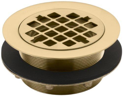 Kohler K-9132-BGD Shower Drain, for Use with Plastic Pipe, Gasket Included, Vibrant Moderne Brushed Gold