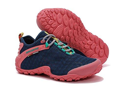 SANANG Damen Outdoor-Low-Top Breathable Schuhe Trainer Sport Wandern Trekking Schuhe Marine