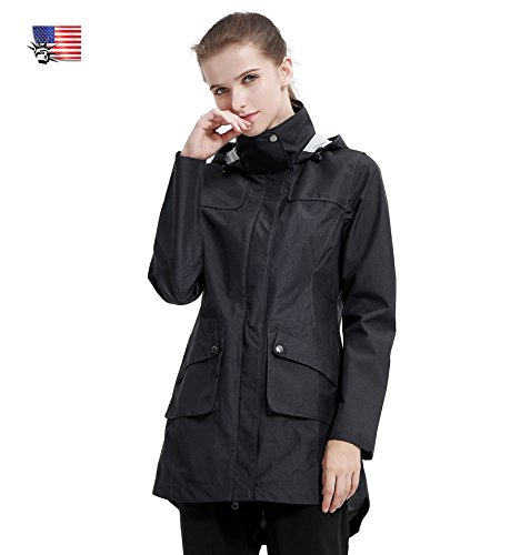 Diamond Candy Womens Lightweight Travel Softshell Hoodie Raincoat...