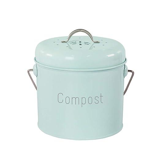Compostador de cocina compost de mesa, acabado en crema ...