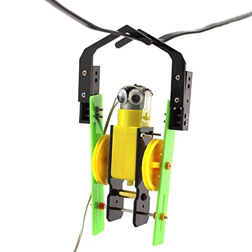 Wire Control Climb Robot Toys Physical Building Blocks Kits Solar Energy Assembled Toy Teaching by Unknown