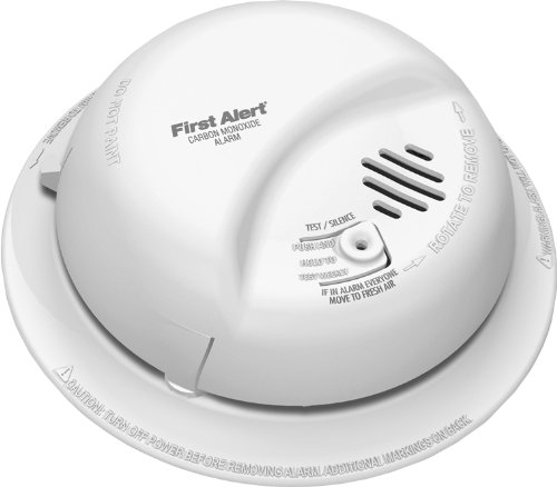 First Alert BRK CO5120BN Hardwire Carbon Monoxide Alarm with Battery Backup 2 Pack