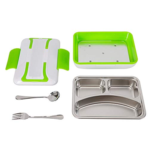 Portable 1.2L Stainless Steel Electric Food Storage Heating Lunch Box Food Heater Container Stainless Steel 45W US STOCK