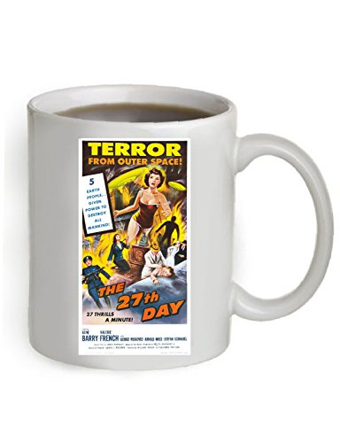 The 27th. Day Movie Poster Coffee Mug 11 OZ. .