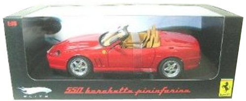 - Hot wheels N2054 Ferrari 550 Barchetta Pininfarina Red Elite Edition 1/18 Diecast Model Car by Hotwheels
