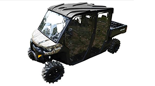SuperATV Heavy Duty Full Cab Enclosure Doors for Can-Am Defender MAX (2017+) - All 4 Doors