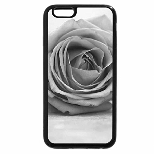 iPhone 6S Case, iPhone 6 Case (Black & White) - Old rose