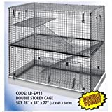 Dahak International Ltd Chinchilla Cage Large Crate Hutch - Rat Ferret 2 Tier