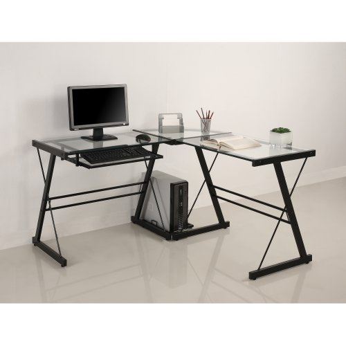 Walker Edison 3-Piece Contemporary Desk, Multi Christmas Deals