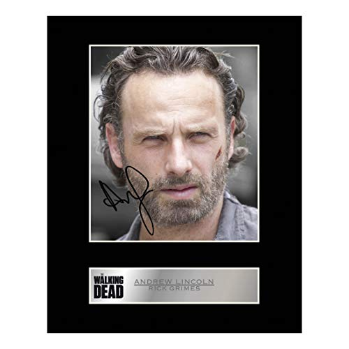 - iconic pics Andrew Lincoln, Rick Grimes Signed Mounted Photo Display Walking Dead