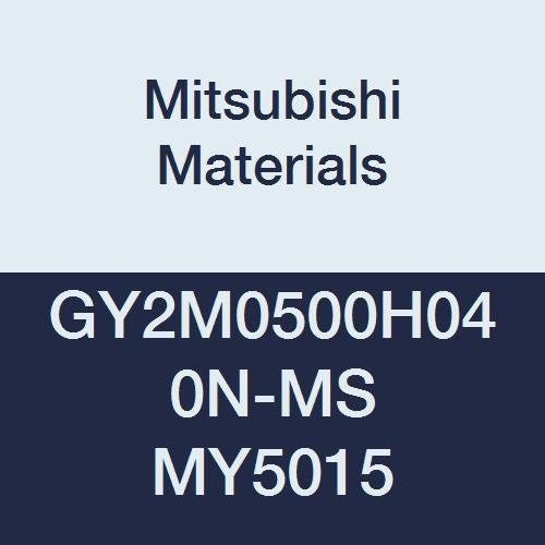 H Seat 0.016 Corner Radius Mitsubishi Materials GY2M0500H040N-MS MY5015 GY Series Carbide Grooving Insert for Multifunctional and Low Feeds 2 Teeth 0.197 Grooving Width Pack of 10