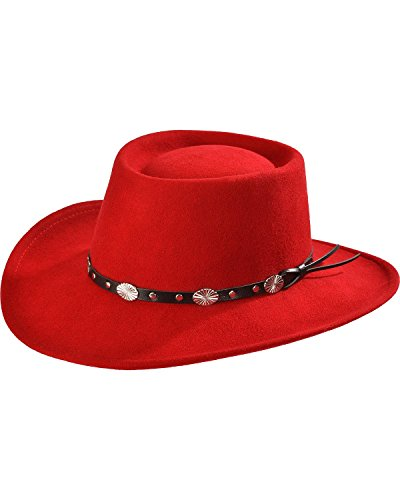 Silverado Women's Crushable Wool Gambler Hat Red Large