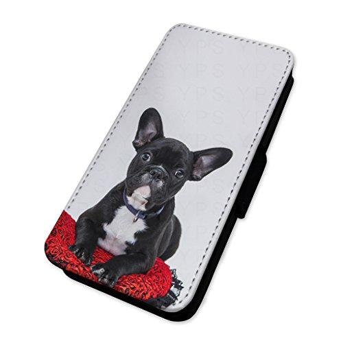 Pretty Bulldog francese–Custodia ad aletta in pelle copertura di carta Apple Iphone 7 Plus