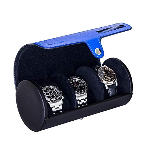 Watch Case, Travel Watch Roll for 3 Watch, Portable Watch Organizer