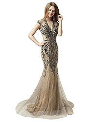 Tulle Mermaid Sequin Evening Dress
