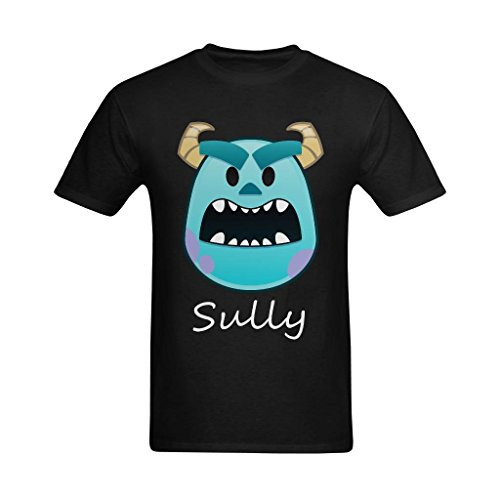Seedit Men's Monsters Sully Head Patch Graphic Printed Art T-Shirt (Sully Monsters)