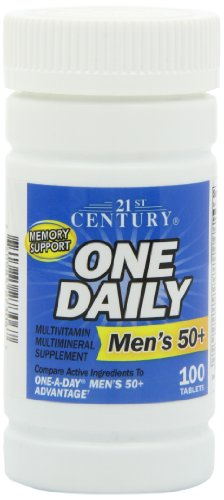 21st Century One Daily Tablets - 21st Century One Daily Men's 50+ Tablets, 100 Count