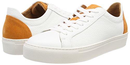 Selected Sfdonna Contrast Sneaker, Sneakers Basses Femme, (Dark Cheddar), 41 EU