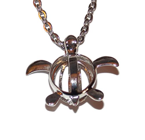 Turtle Pearl Cage with 20 Inch Stainless Steel Chain Create Your Own Custom Necklace Jewelry ()