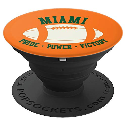 Miami FL Proud Football - PopSockets Grip and Stand for Phones and -