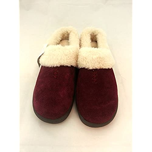 One World. Two Feet. Slippers In Burgundy - Size 6