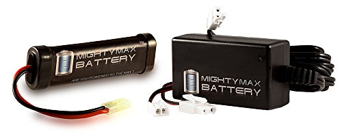 9.6V 1600mAh Flat Replaces Kalashnikov AK-47 FPS-485 AEG + 9V Charger - Mighty Max Battery brand product