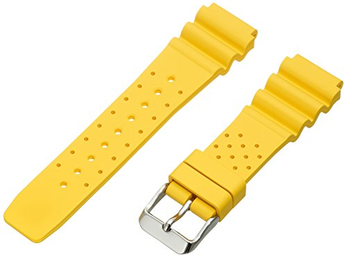 Momentum ZC-20TWS YELLOW 19mm M1 Twist Rubber Yellow Watch Strap (Twist M1 Momentum)