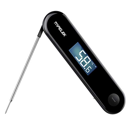 Meat Thermometer, TOPELEK Digital Cooking Thermometer, 3 Second Instant Read-out, Multi-functional Touch Control, Stainless Steel Probe, Easy-to-read Screen, 30s Auto-off, for Kitchen, BBQ, ()