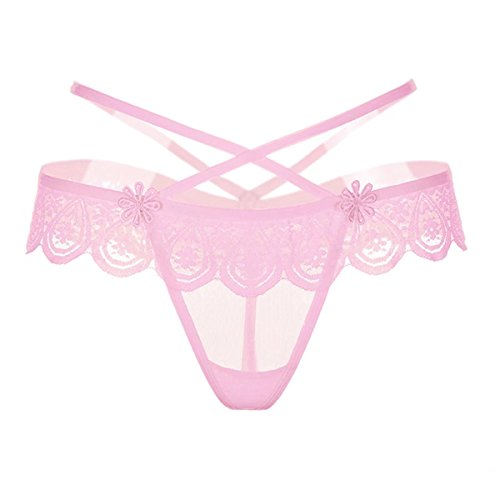 HitZoom Sexy Lace Strap Cross T-Back Thong G-String Underwear