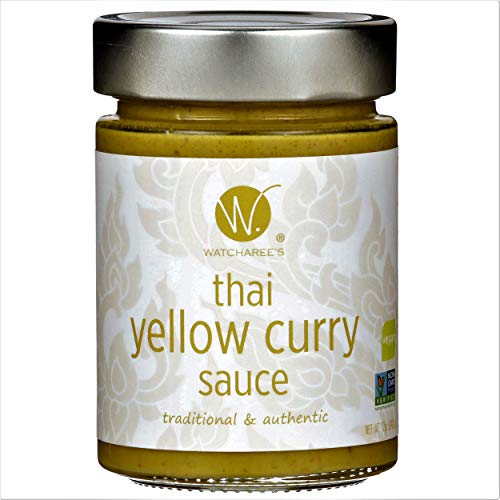 Watcharee's Thai Yellow Curry Sauce | Authentic Traditional Thai Recipe | (Vegan) 12.0 oz jar
