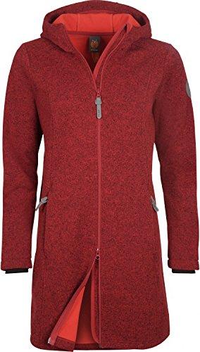 elkline windrose strickfleece mantel damen