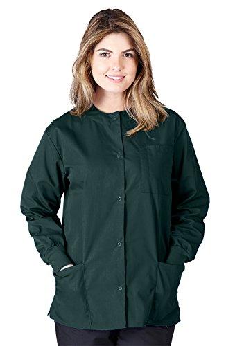 Natural Uniforms Women's Warm Up Jacket (Plus Sizes Available) (Medium, Hunter ()