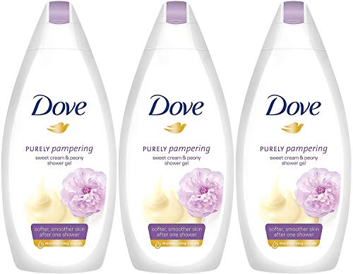Dove Purely Pampering Sweet Cream with Peony Body Wash, 16.9 Ounce / 500 Ml (Pack of 3) (Dove Cream Wash)