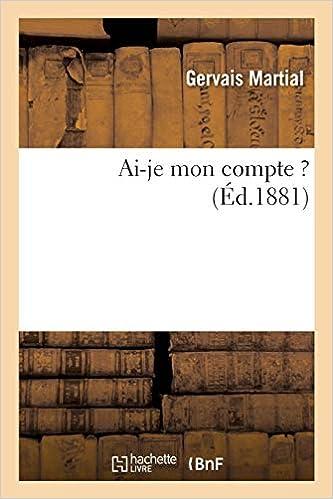 Amazon Fr Ai Je Mon Compte Gervais Martial Livres