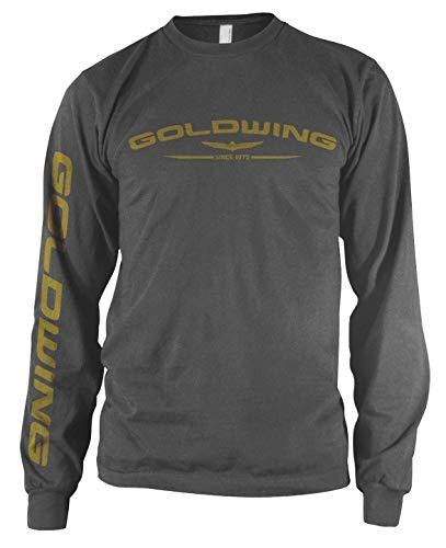 Honda Mens Goldwing Long-Sleeve Shirt, Charcoal, Large