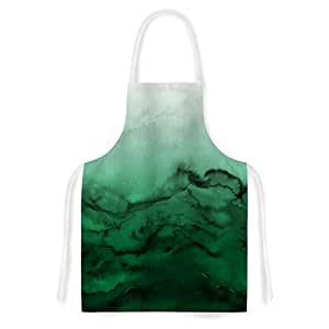 "Kess InHouse JD1192AAR01 EBI Emporium Winter Waves 7"" Green Black Artistic Apron"
