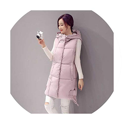 Puissant fishing-vests Women Vest Winter Jacket Hooded Thicken Warm Long Casual Cotton Padded Waistcoat Female Sleeveless,red Wine,XXL (Patagonia Womens Classic Retro X Fleece Jacket)