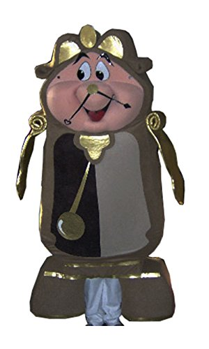 Cogsworth Costume Clock (Cogsworth Clock Mascot Costume Adult)