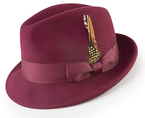 8c9226251c21f MONTIQUE Men s Pinch Crushable Litefelt Snap Brim Hat H-37 (Large
