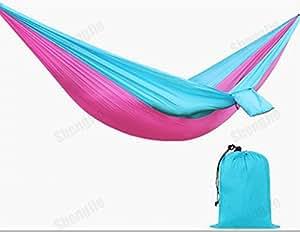 Gran hamaca Silla de hamaca cielo–Calidad de nylon giratoria para mayor comodidad y resistencia–extra largo–cama para colgar silla para Patio, dormitorio, porche, interior/exterior