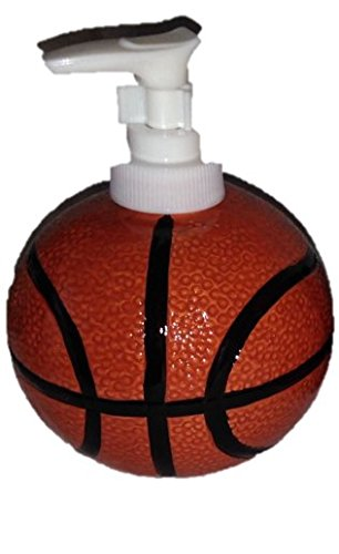 Sports: Basketball Ceramic Stoneware Bathroom Accessories (soap Or Lotion  Dispenser)