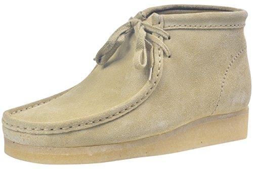 CLARKS Men's Wallabee B Chukka Boot,Maple Tan Suede,8.5 M (Cowhide Mens Chukka)