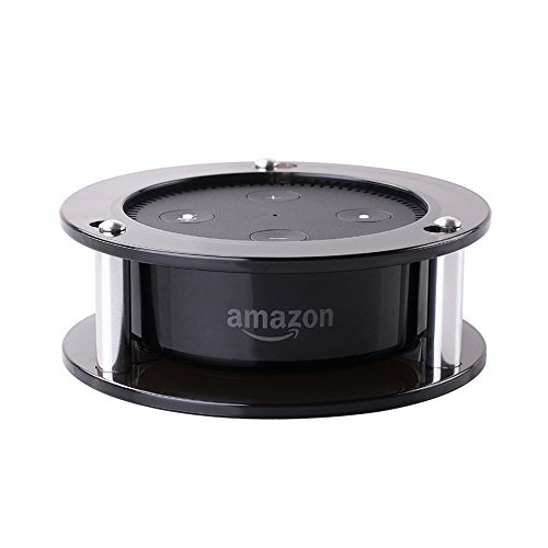 Free Aobelieve Acrylic Stable Stand Wall Mount Speaker Holder for Amazon Alexa Echo Dot 2nd Generation