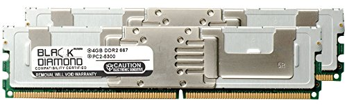 (8GB 2X4GB Memory RAM for IBM Intellistation Z Pro Type 9228 All Models DDR2 Fully Buffered FBDIMM 240pin PC2-5300 667MHz Black Diamond Memory Module Upgrade )