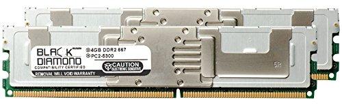 (8GB 2X4GB Memory RAM for Compaq ProLiant BL460c Server Blade Black Diamond Memory Module 240pin PC2-5300 667MHz DDR2 Fully Buffered FBDIMM Upgrade)